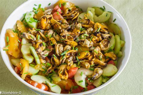 cuisine des moules salade grecque aux moules et crevettes kilometre 0 fr