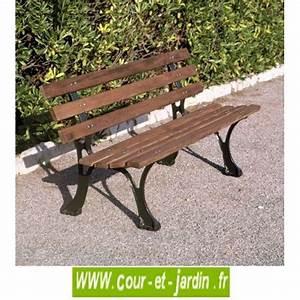 Banc De Jardin Bois : banc de jardin en fonte et bois pas cher bancs de ~ Dode.kayakingforconservation.com Idées de Décoration