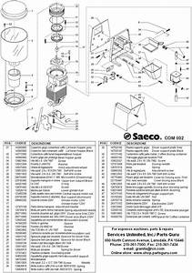 Saeco Rio Profi Combi Espresso Machines  Parts And Repairs