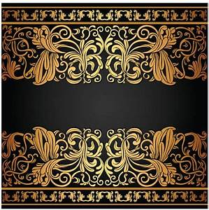 Gold floral borders graphic vector design - Vector Frames ...