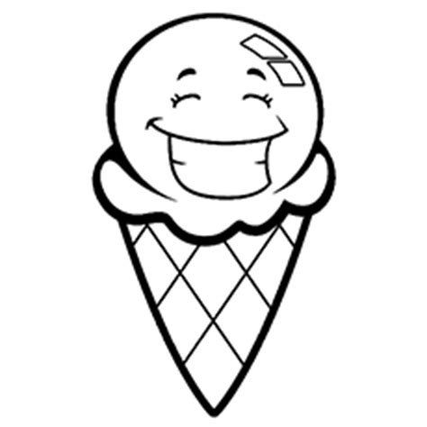 ice cream cone coloring page clipart
