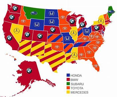 Popular State Each Foreign Usa America Map