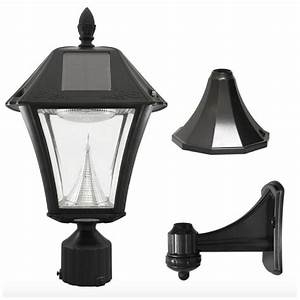 Led Outdoor Lampe : solar led black outdoor street post pole wall mount light lamp lighting fixture ebay ~ Markanthonyermac.com Haus und Dekorationen