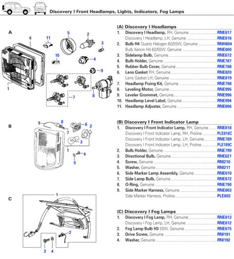 Light Wiring Diagram For 2002 Discovery by Discovery I Electrical Front Lights Rovers