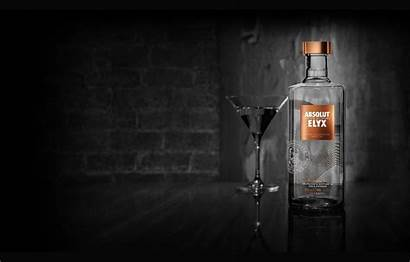 Vodka Alcohol Absolut Glass Elyx Absolute Bottle