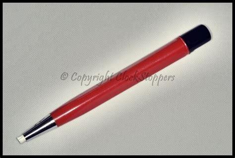 pencil scratch pen brush rust glass fibre fiber clean tools remove dirt removing parts pens contact repair clockstoppers