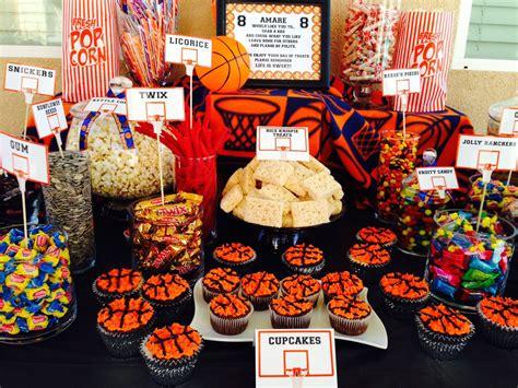kids basketball themed candy buffet candy buffet