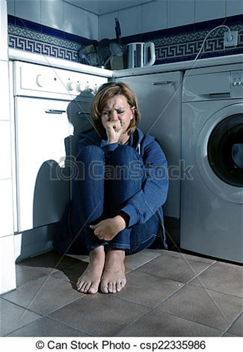 pictures of lonely and sick on kitchen floor in stress csp22335986 search