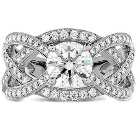 intertwining hof diamond engagement ring