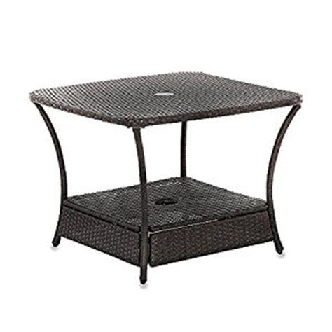 umbrella side table base amazon com umbrella stand side table base in wicker for