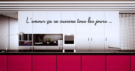 revendeur cuisine stickers muraux citation amour et cuisine sticker