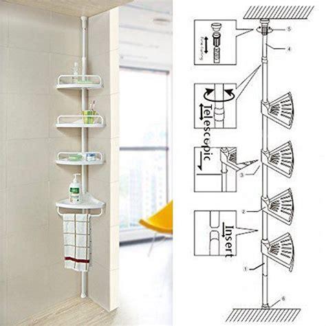 Bathroom Extendable Shelf by Non Rust Bathroom Telescopic Corner Shelf Storage 4 Tier