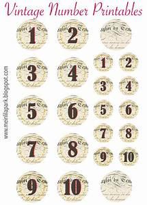 free printable vintage number stickers ausdruckbare With free printable number labels