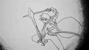 Sword Art Online  Drawing Kirito