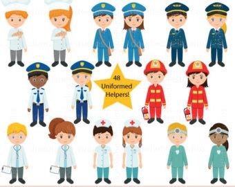 15100 career day clipart occupation clip etsy