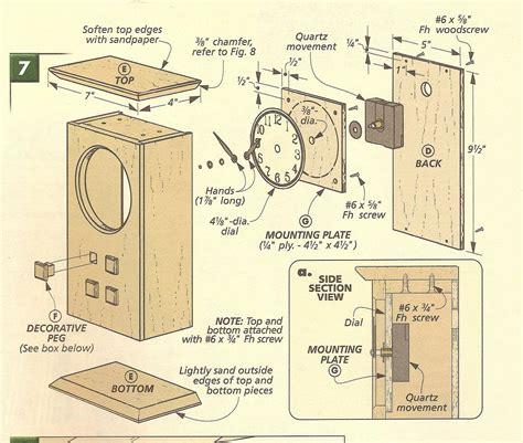 woodwork mantle clock plans  plans