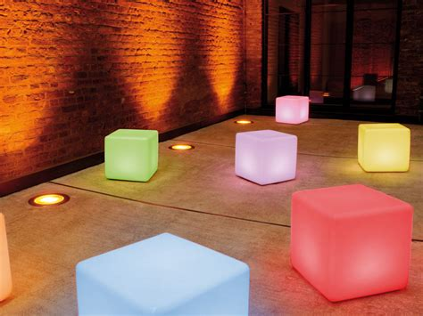 cube led accu wireless outside lights for landscape