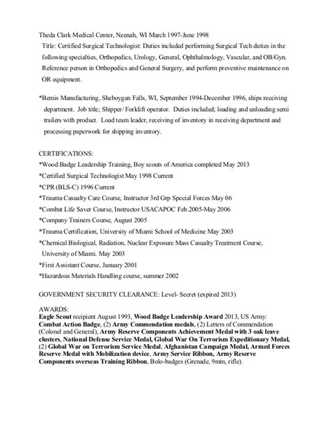 Expired Security Clearance On Resume derek s resume 2014