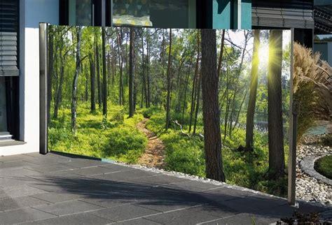Mit Fotodruck by Hti Living Seitenmarkise Mit Fotodruck Wald Einfache