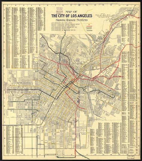 transit history  los angeles   map   citys