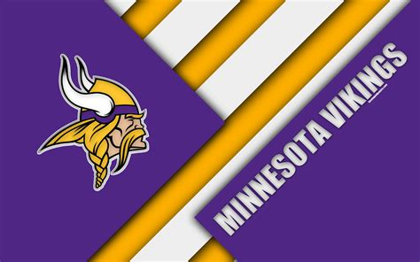 Download wallpapers Minnesota Vikings, NFC North, 4k, logo ...