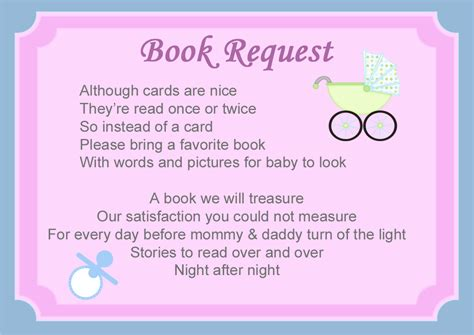 Baby Shower Book Poem - baby shower book poems