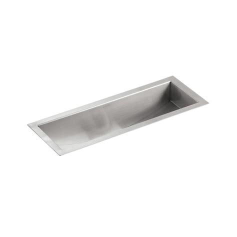 kohler undertone kitchen sink shop kohler undertone 8 25 in x 22 in single basin 6707