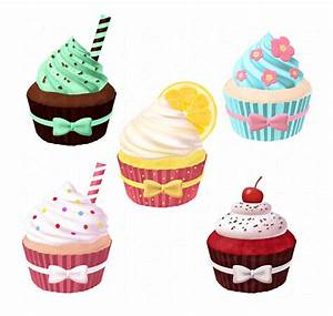 Cupcake Clipart Scrapbook Pack Digital Scrapbooking ...