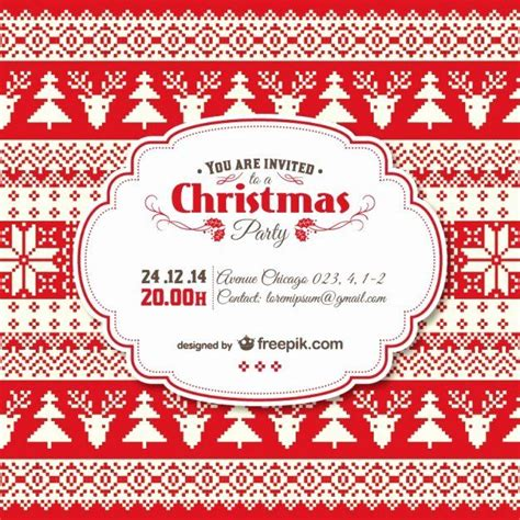holiday invitation template   vintage christmas