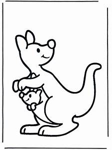 Kangaroo Coloring Pages - Coloringpages1001.com