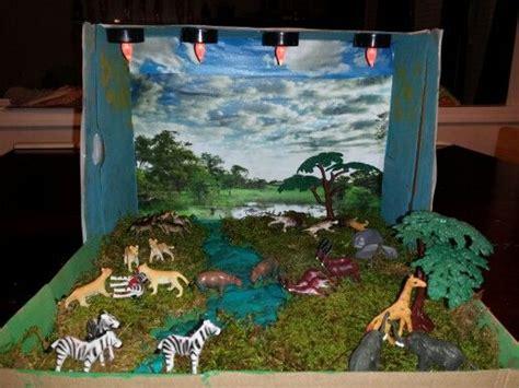 lion habitat diorama school pinterest habitats