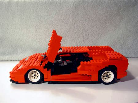 incredible lego lamborghini features working headlights