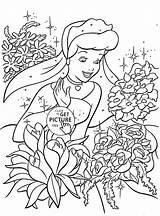 Coloring Princess Cinderella Pages Disney Printable Flowers Rose Princesses Printables Cartoon Flower Bubakids Mermaid Many Characters Thousands Regarding Books Internet sketch template