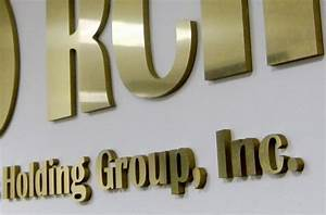 metal lobby signs add sophistication long beach ca With gold acrylic letters