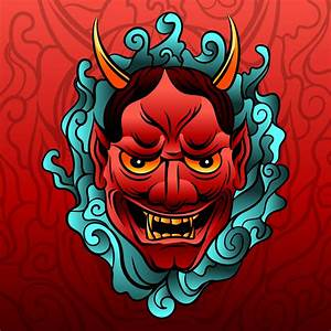 Japanese Tattoo Oni Vector - Download Free Vector Art ...