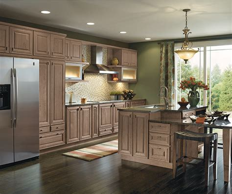 light cherry cabinets   galley kitchen masterbrand