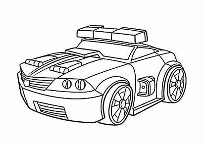 Coloring Pages Rescue Bots Chase Transformers Bot