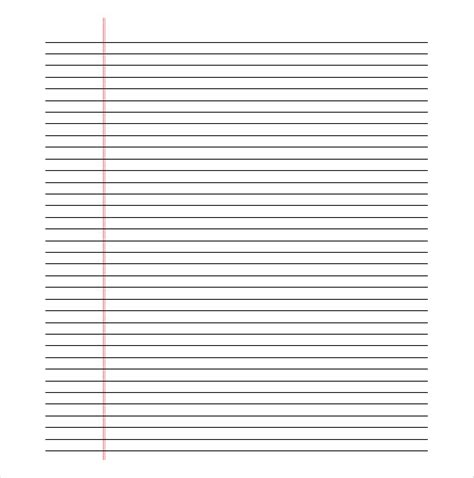 printable lined paper  template business