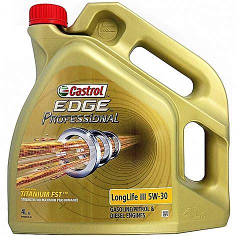 longlife öl 5w30 castrol huile synth 233 tique castrol edge professional
