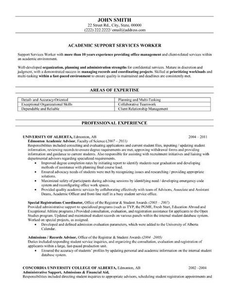 Academic Advising Resume resume templates resume and templates on