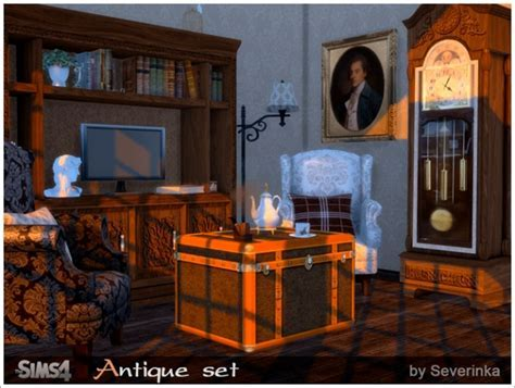 Antique set old English style at Sims by Severinka » Sims