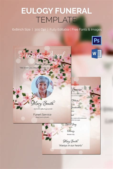 Template Eulogy by 10 Eulogy Exles Free Premium Templates
