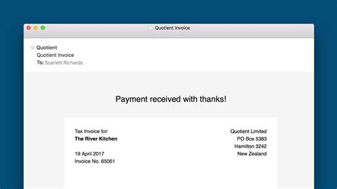 invoice received email template   apple paypal