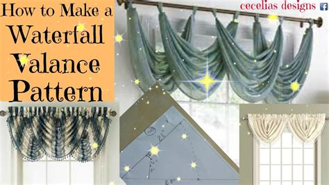 How To Make Fall Decorations At Home: How To Make A Waterfall Valance Pattern
