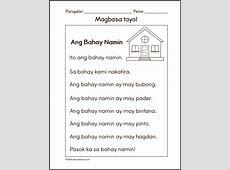 Filipino worksheets for Grade 1 Samutsamot