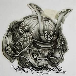 Samurai Warrior Mask Tattoo Design - Amazing Tattoo