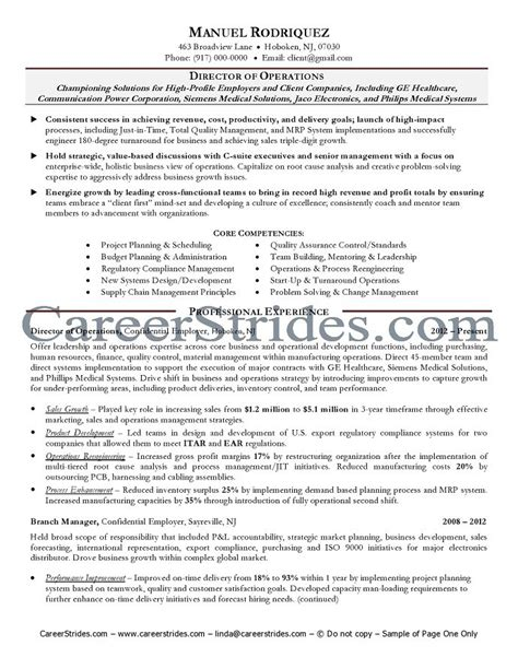sle resume vp operations sle resume