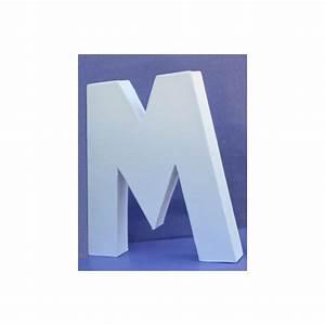 Lettre En Carton À Peindre : lettre 3d m encarton 20cm maison pratic boutique pour vos loisirs creatifs et votre deco ~ Nature-et-papiers.com Idées de Décoration