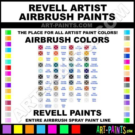 revell artist airbrush spray paint colors revell artist