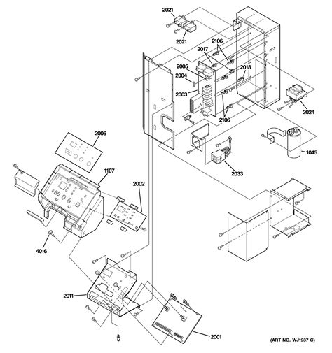 parts diagram parts list for az29e07dabm1 ge parts room air conditioner parts